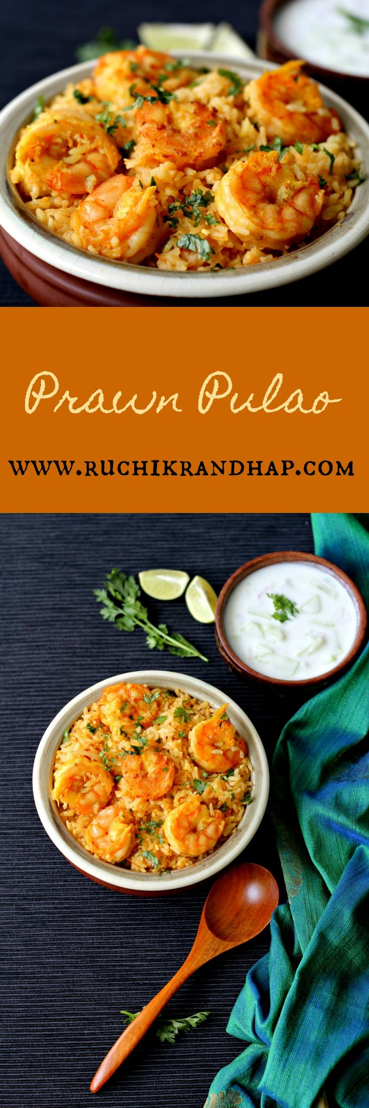 Simple, easy, satisfying ~ this prawn pulao will dazzle everyday or party menu! Get the recipe!