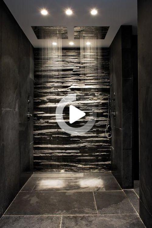 50 Salles De Bains Design A Voir Absolument En 2020 Salle De Bain Design Douche Italienne Noir Salle De Bain Contemporaine