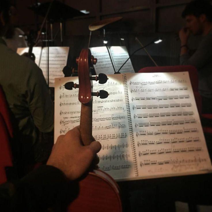 Y así luce un ensayo de ópera desde la perspectiva de un violinista
