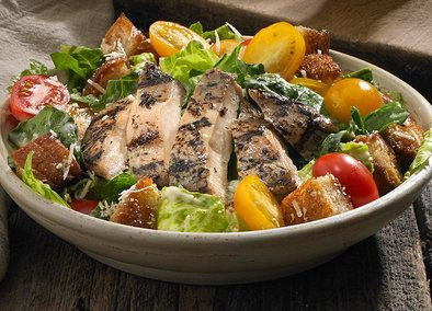 Give Caesar salads a fresh new taste with Johnsonville! This dish has all the usual salad fixings: Romaine lettuce, cherry tomatoes, Parmesan cheese, croutons and Caesar dressing. The game changer is the phenomenal flavor of Johnsonville Flame Grilled Chicken. Ready in less than ten minutes, this recipe is a keeper!
