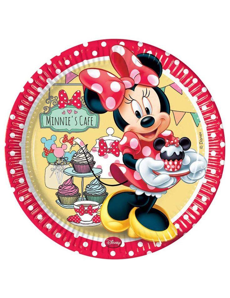 8 coloratissimi piatti Minnie café™ su VegaooParty, negozio di articoli per feste. Scopri il maggior catalogo di addobbi e decorazioni per feste del web,  sempre al miglior prezzo!