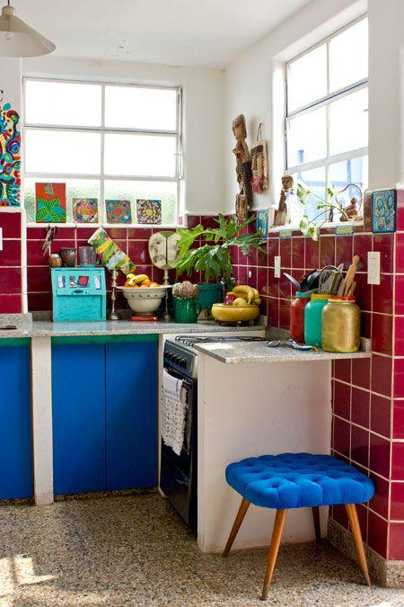 Casinha colorida: Uma casa artística na Argentina
