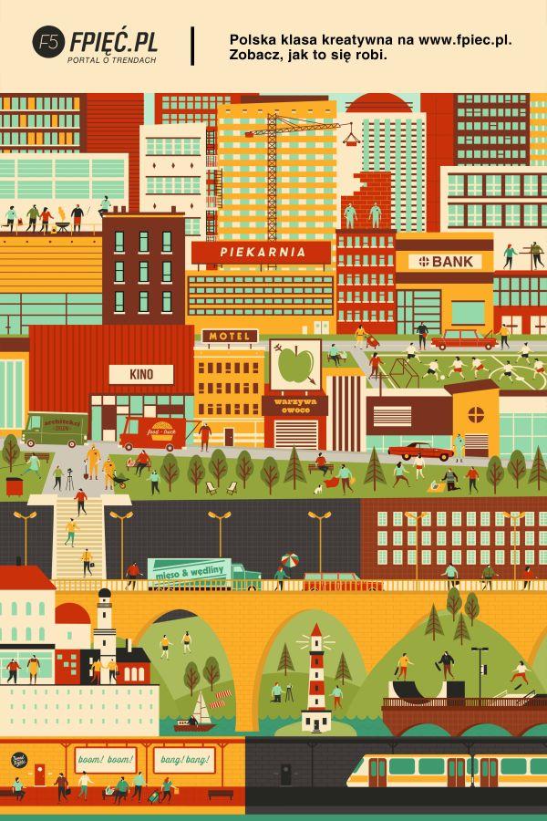 F5 magazine   city light poster on Behance