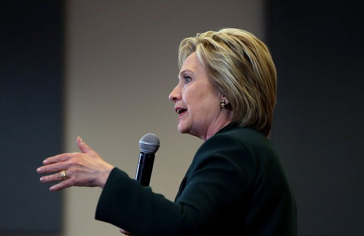 Hillary Clinton Hitches Her Health Care Wagon To Obamacare. Democratic presidential candidate Hillary Clinton speaks at a Las Vegas high school last Friday.
