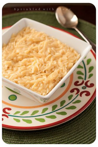 Easy cheesy orzo.... Ilove orzo recipes... good alternative to mac and cheese when I feel the craving hit