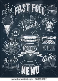 cafe chalk menu boards - Google Search