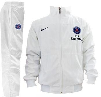 Nouveau survêtement de foot PSG 2014 2015 blanc
