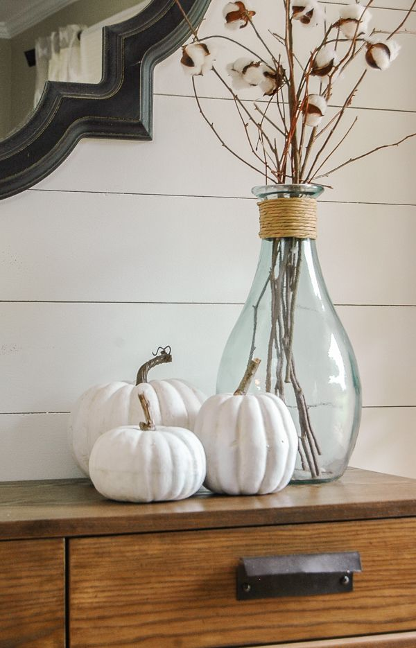 How to Make Inexpensive Faux Pumpkins Look Impressively Real-www.littlehouseoffour.com