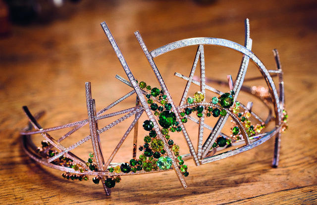 """The """"Vertiges"""" tiara designed by Scott Armstrong for Chaumet, 2017"""