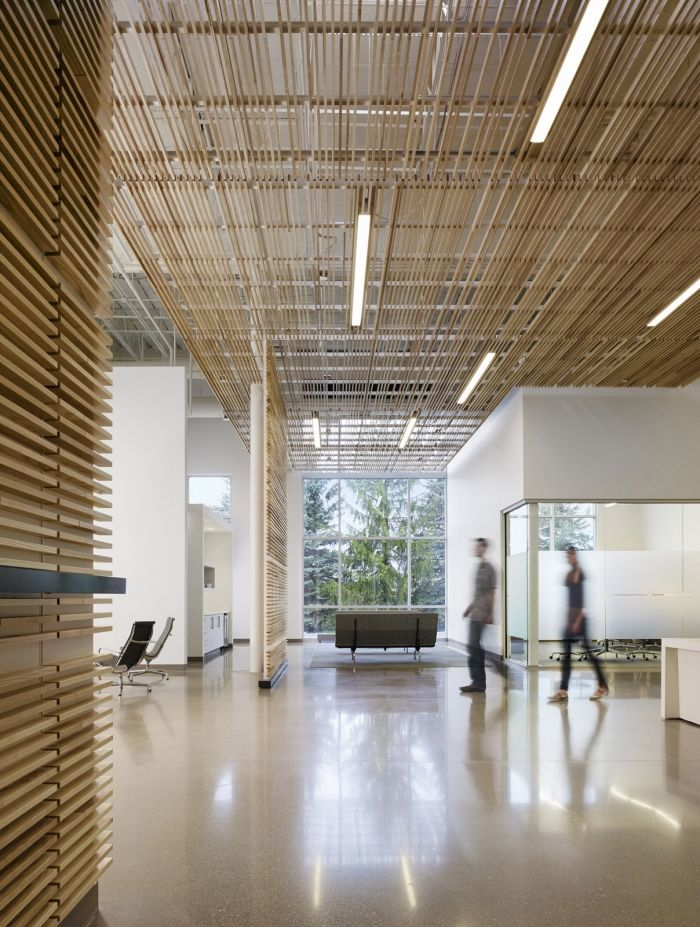 It's somehow a relief to find out that purpose-built offices are still being built without quirky amenities, like goal posts or adult ballpits. The new Kalamazoo design center for cleaning product...