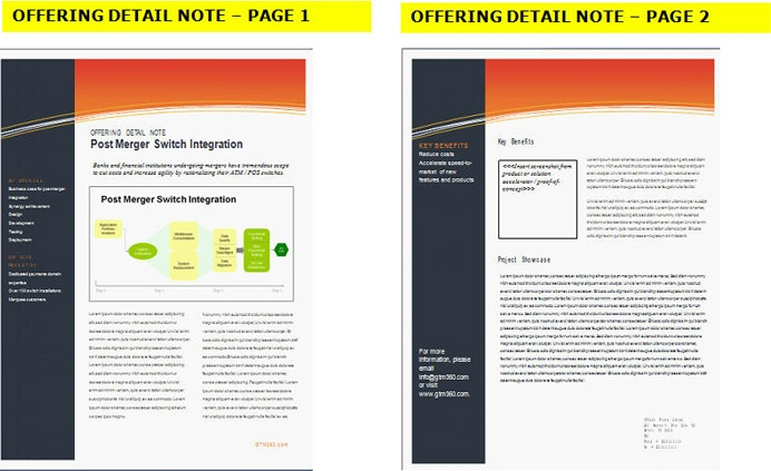 Offering Detail Note / Solution Detail Note (Page 1-2 of 4-8 pages)