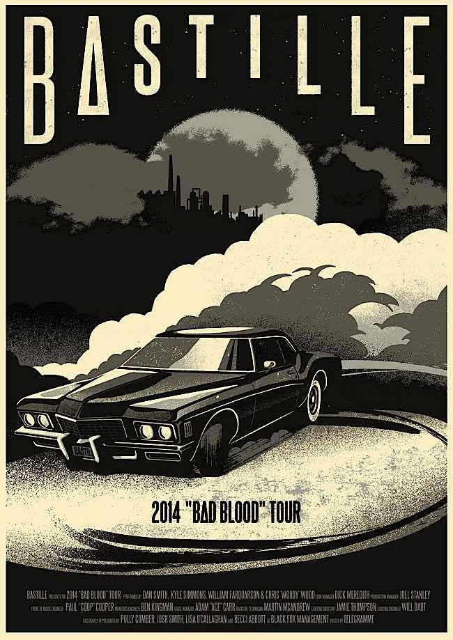 Bastille - Screen Printed Gig Posters