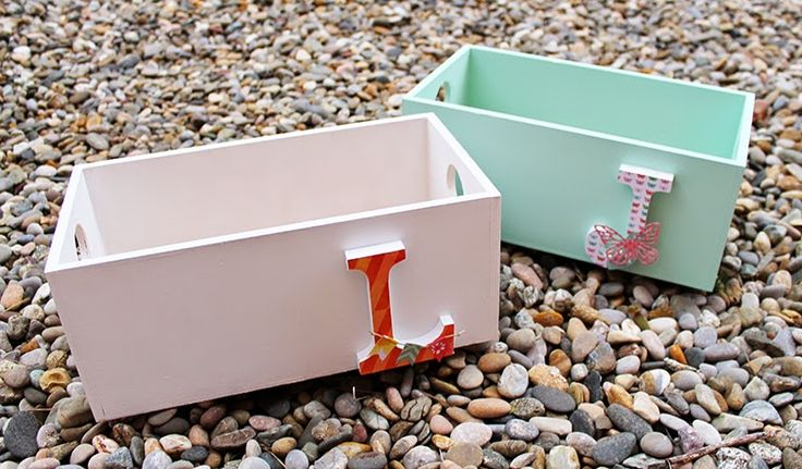 My Sweet Things: DIY   Cajas con iniciales, chalk paint y papel