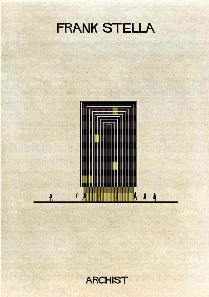 Galería - ARCHIST: Ilustraciones Famosas de Arte Reimaginadas como Arquitectura - 20