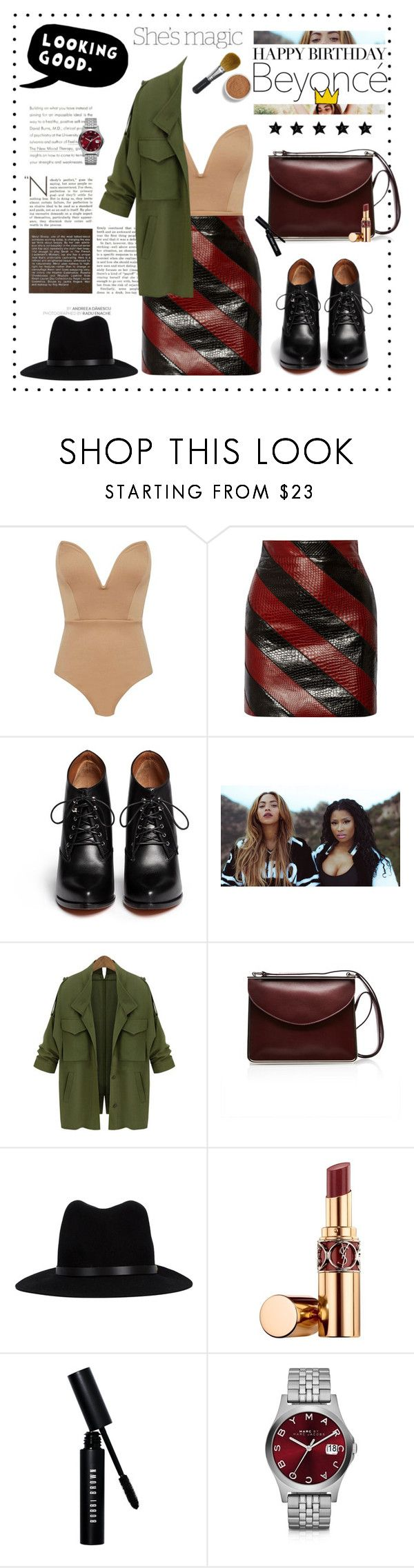 """Happy Birthday, Beyoncé!"" by vladoslav ❤ liked on Polyvore featuring Yves Saint Laurent, Givenchy, Nicki Minaj, Carven, rag & bone, ESPRIT, CC, Nicole, Bobbi Brown Cosmetics and Marc by Marc Jacobs"