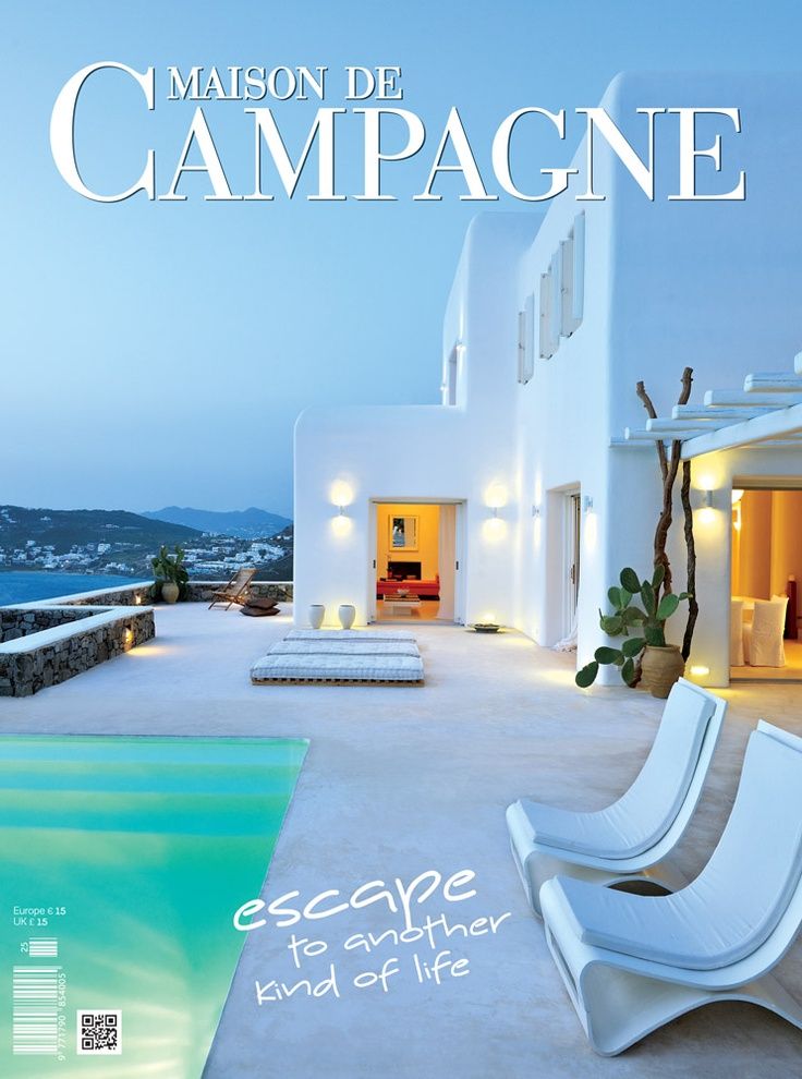 Maison de Campagne 2012   find it via our e-shop @ www.ek-mag.com/...   #art #architecture #design #interior_design #style #stylish #modern #residence #building #Greece #Greek #islands #countryside #elegant #summer #sea #mountain #house #traditional #exclusive #edition #innovation