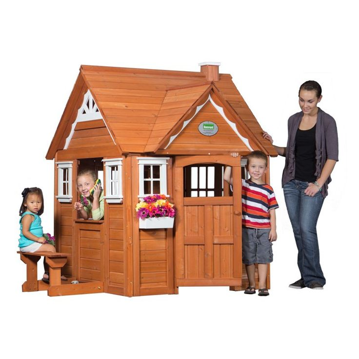 INDOOR SINK PHONE AND GRILL Have to have it. Backyard Discovery My Cedar Playhouse - $599.99 @hayneedle