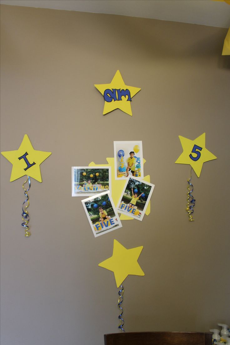 Some pictures from your child give to your party personality....