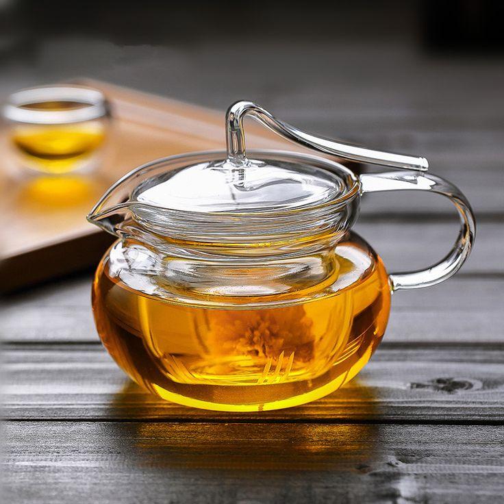 Coffee & Tea Sets personalized clear heat resistant flower pot ,glass tea pot