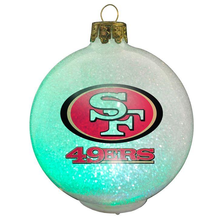 Classic NFL San Francisco 49ers Color Changing LED Ornament