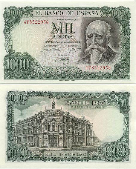 Billete de 1000 pesetas