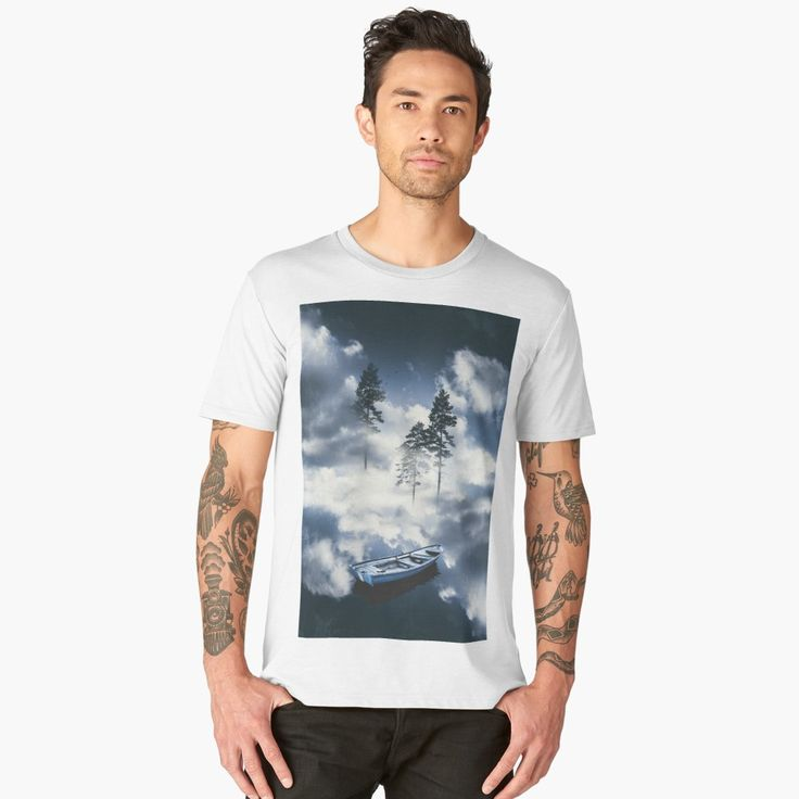 'Forest sailing' Men's Premium T-Shirt by HappyMelvin. #surreal #nature #clothing #fashion #tshirt
