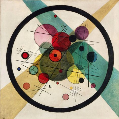 Wassily Kandinsky, Circles in a circle on ArtStack #wassily-kandinsky-vasilii-vasil-ievich-kandinskii #art