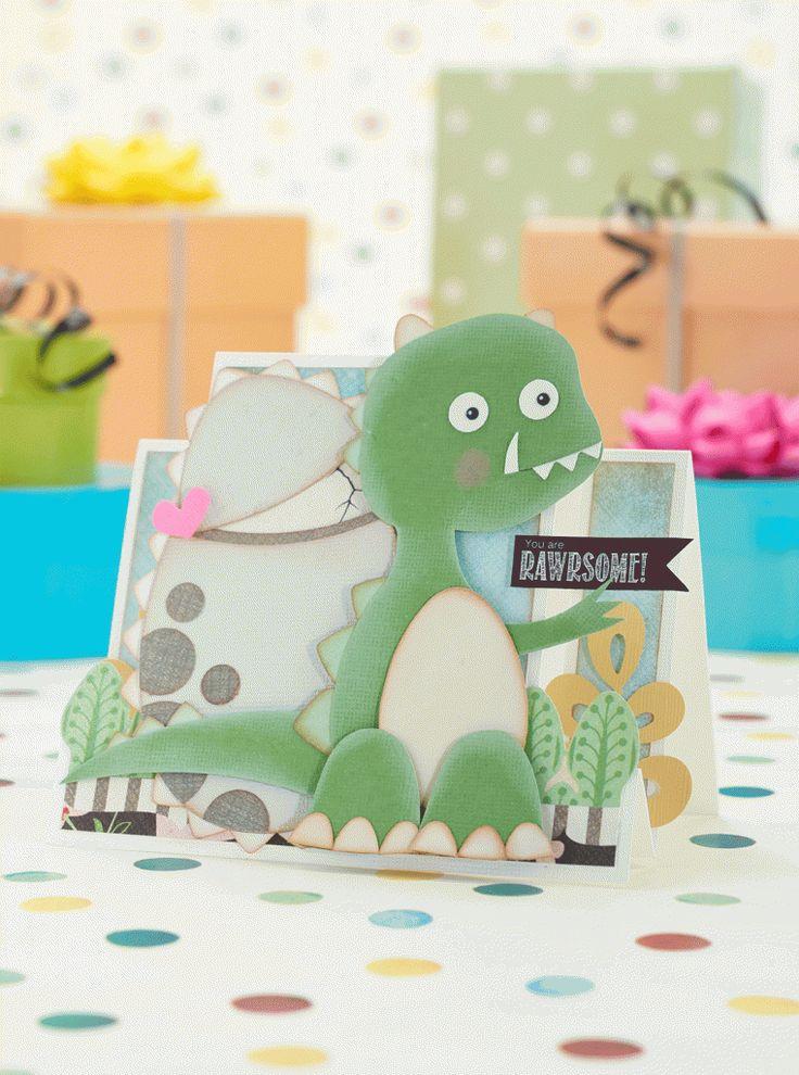 Papercraft Inspirations issue 151 dinosaur card templates