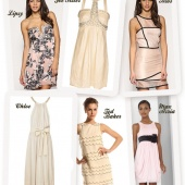 You can never go wrong with nude #wedding guest #dresses. @1fabday