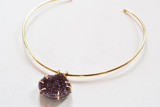 30 Made-In-Chicago Gifts For Everyone On Your List #refinery29  http://www.refinery29.com/chicago-gifts#slide4  Glam Rocks Designs Druzy Stone Choker Necklace, $150, available at Etsy.