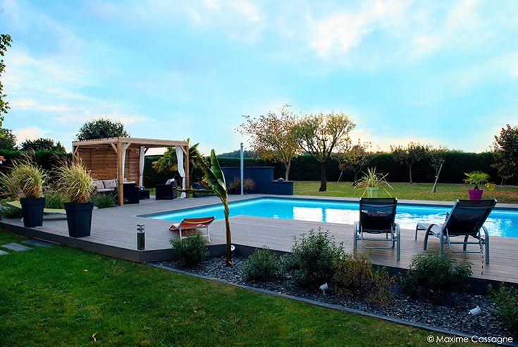 R novation d 39 un jardin en espace paysager contemporain et for Creer un jardin paysager