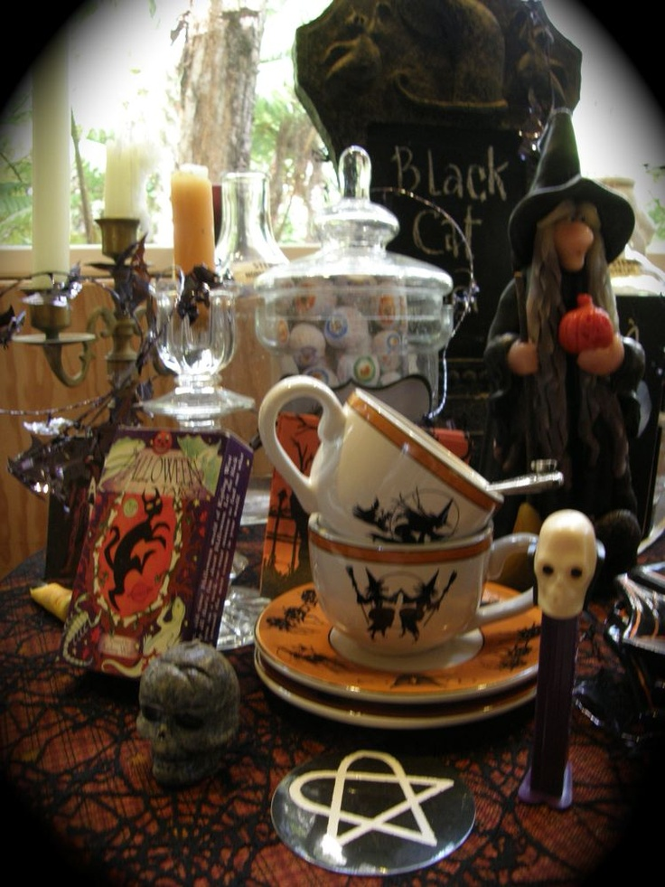 Black Cat Tea for all my beloved witches, goblins and forest faeries.  photo by antoinette- tea mistress