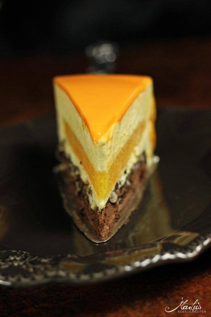Orangentorte mit Schokoladenknusperboden & Glanzgl…