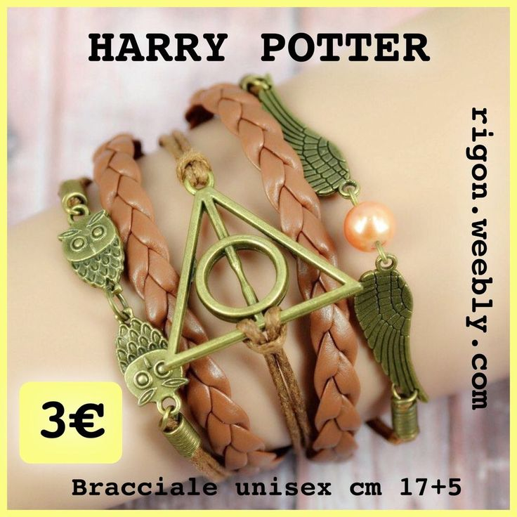 BRACCIALETTO HARRY POTTER GUFO - ALI  - INFINITO MULTISTRATO 3€  NOVITÀ Marrone