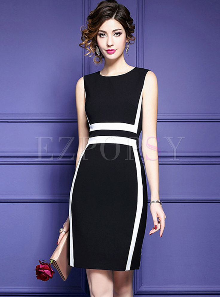 Black and white bodycon dress up games