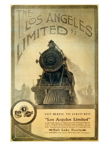 Union Pacific, Los Angeles Locomotive Giclee Print at AllPosters.com