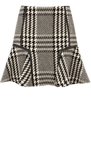 Cute skater wool checked skirt.