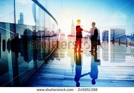 Business People Hand Shake Partnership Teamwork Deal Cooperation - stock photo