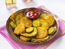 Oven fried zucchini - the kids really liked this.