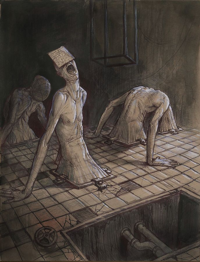Nightmare Fuel: Monsters by Anastasios Gionis by danlev on deviantART Creepy