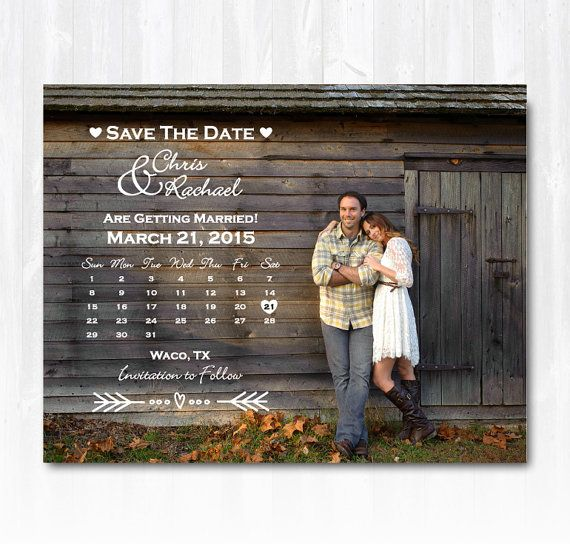 Photo Calendar Save The Date Magnet or by TreasuredMomentsCard, $19.99