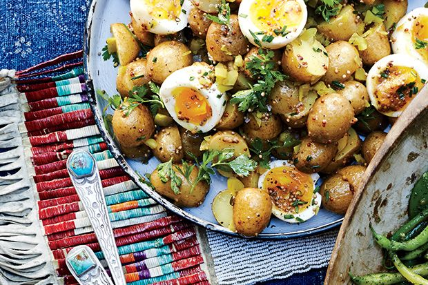 Find the recipe for Potato Salad with 7-Minute Eggs and Mustard Vinaigrette and other potato recipes at Epicurious.com
