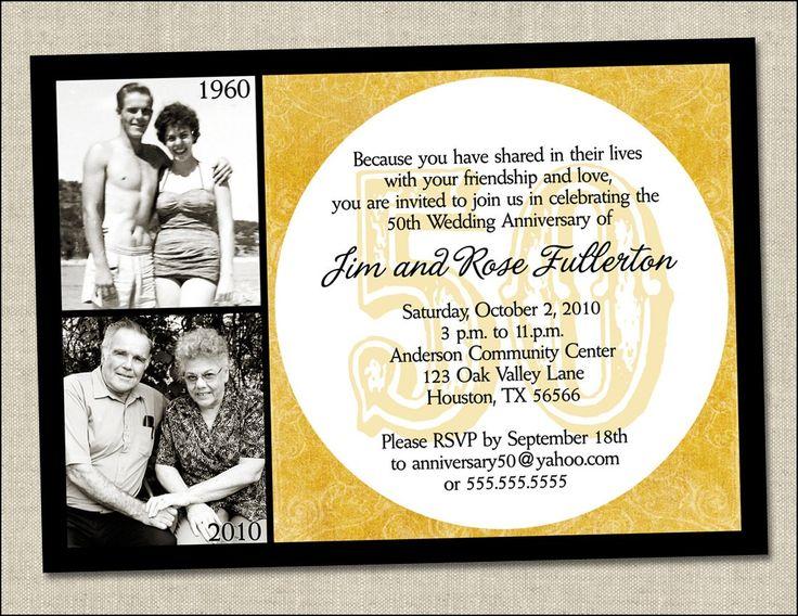 Surprise Wedding Invitation Wording: Best 25+ Anniversary Invitations Ideas On Pinterest