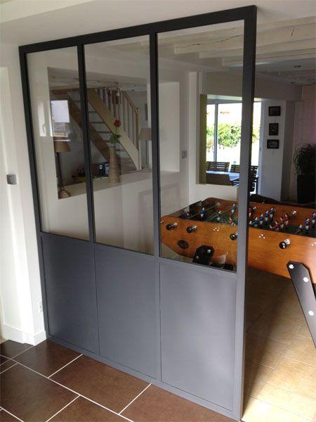 Verriere d 39 interieur cloison vitr e r alisations for Cloison cuisine ouverte