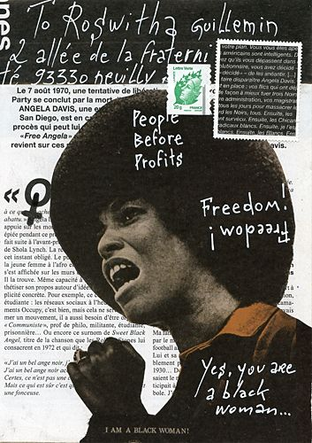 Angela Davis Mail Art by Christine LE ROY