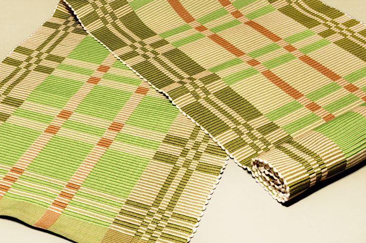 Rep Weave Mat/手織り/マット/textile/テキスタイル/handwoven/weaving