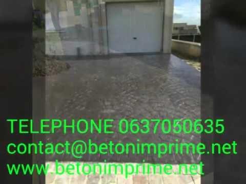 Beton imprime Ile de France,Seine-et-Marne,Essonne
