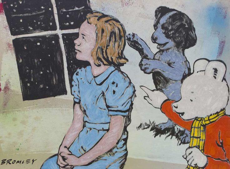Figurative Childrens Paintings - David Bromley - Dream After Rupert Bear