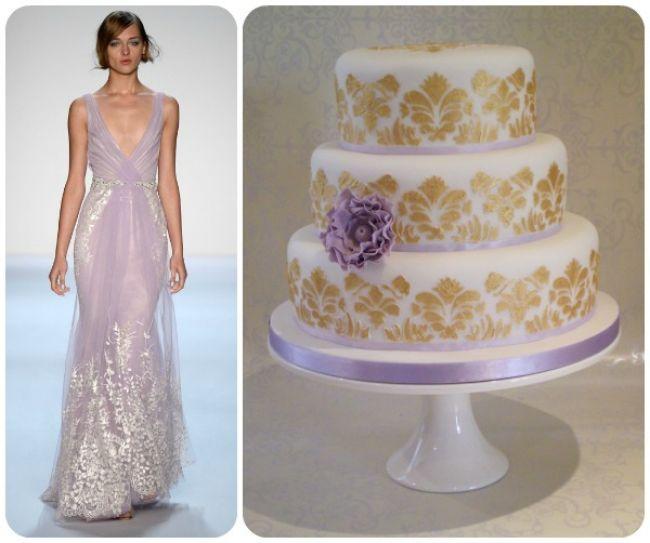 20 abiti da sposa 2014, abbinati ad altrettante torte nuziali: delizia per gli occhi e per il palato! Image: 9