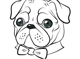 Pugs Coloring Pages Pug Cute Pug Colouring Pages Bixouinfo